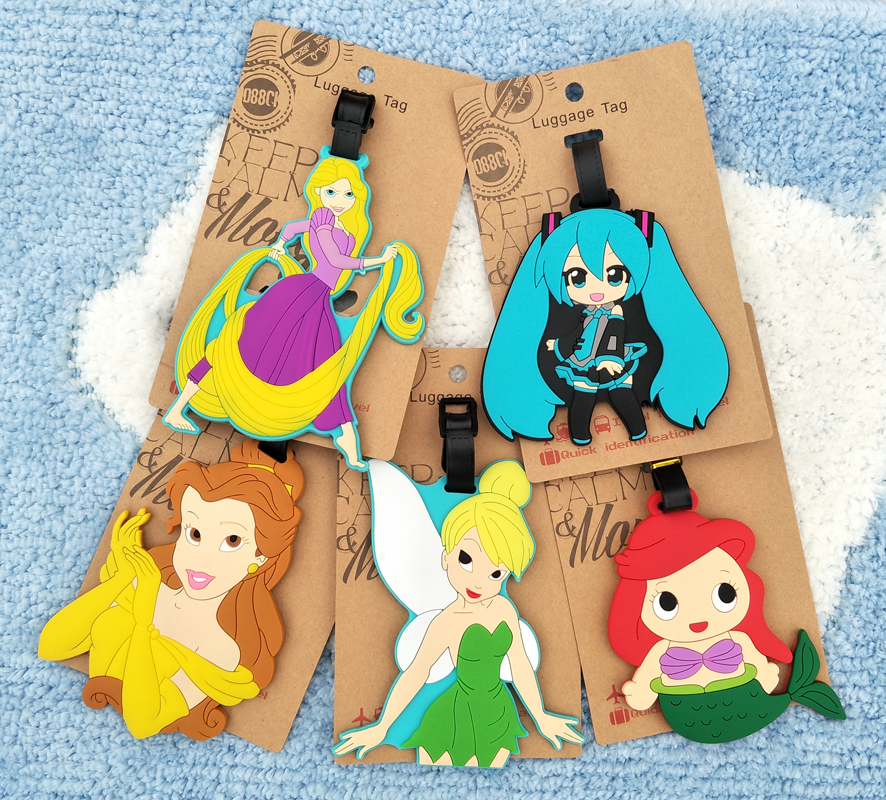 IVYYE Hatsune Miku Princess Anime Travel Accessories Luggage Tag Suitcase ID Address Portable Tags Holder Baggage Label New