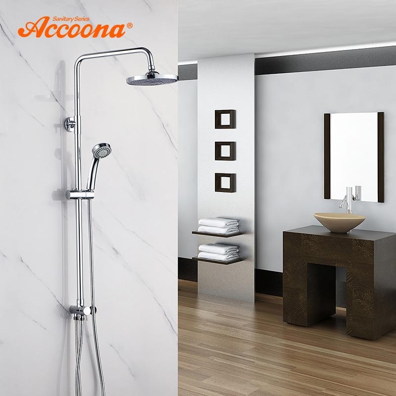 Accoona Dusche Armaturen Bad Dusche Set Messing Wand Montiert Regen Dusche Hand Mini Körper Dusche Wasserhahn Set Für Bad A8397