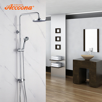 Accoona Shower Faucets Bath Shower Set Brass Wall Mounted Rain Shower Hand Mini Body Shower Faucet Set For Bathroom A8397