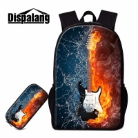 Dispalang 3D Guitar Pattern School Bag Casual Bookbag Cute Backpack Mochila Infantil Design Your Own Backbag