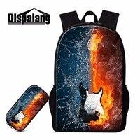 Dispalang 3D Guitar Pattern School Bag Casual Bookbag Cute Backpack Mochila Infantil Design Your Own Backbag