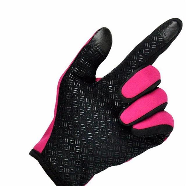 Anti Slip Windproof Thermal Warm Touchscreen Black Zipper Gloves 4