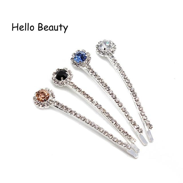1 Pair Fashion Rhinestone Crystal Hair Pins And Clips Diamante Stone Hair  Barrette For Women Girls Hair Jewelry Accessories 9a5de6072b98