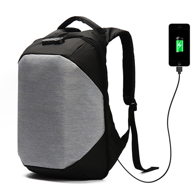 fashion Oxford Men's Anti Theft Backpack Bag USB Charge 15Inch Laptop Notebook Backpack For Men Waterproof Travel Back Pack Bag
