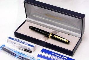 Image 3 - סיילור pg שטוח מקצועי הילוך זהב silver1221 1222 14k עט נובע לבן אדום כחול משלוח חינם