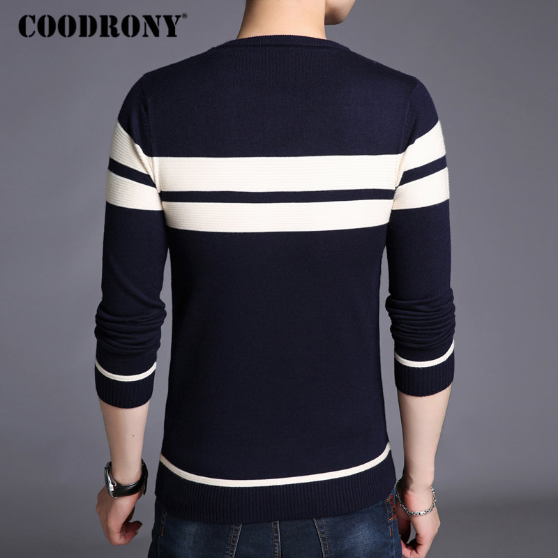Image 4 - COODRONY Mens Knitted Cashmere Wool Sweaters 2019 Autumn Winter New Pullover Men Casual O Neck Jumper Sweater Men Pull Homme 217-in Pullovers from Men's Clothing