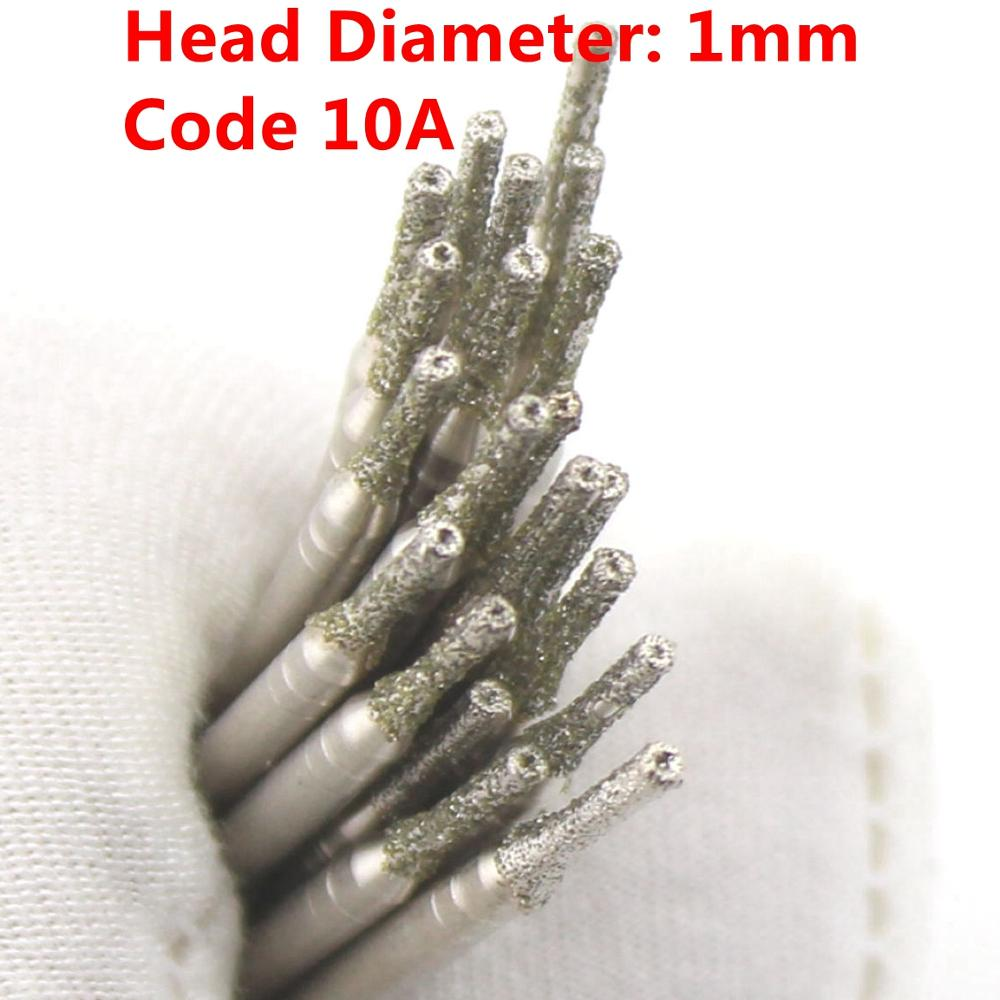 20 Pcs Diamètre 1mm Galvanoplastie Diamant Enduit Scie Trou Forage - Foret - Photo 4