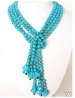 Charming Tibet Tribe Jewelry turquoises beads sscarf necklace Fashion Free shipping