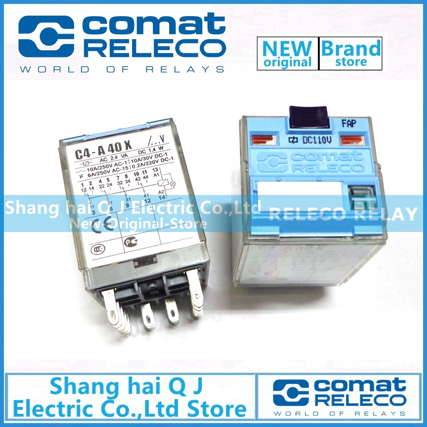 RELECO C4-A40X DC110V 110VDC relay Brand new and originalRELECO C4-A40X DC110V 110VDC relay Brand new and original
