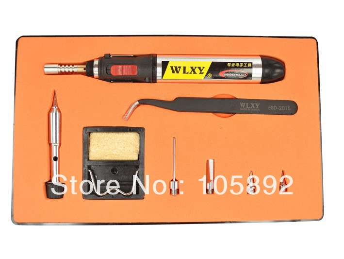 Free shipping WL-1886 8 in1 Butane Gas Electric Soldering Irons DIY Pen Shaped Cordless Gas Soldering Iron Torch Kit Tool stylish dragon shaped alloy iron windproof gas lighter golden