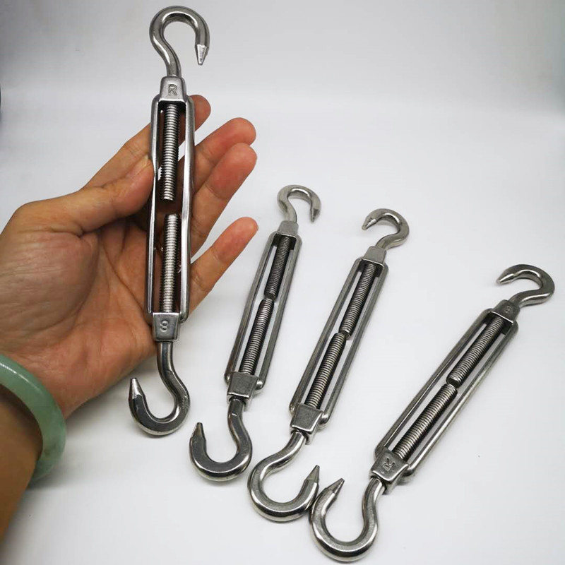 4pc Fence Wire Tensioner M8 Turnbuckle With Hook And Hook