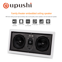 Oupushi Square Hifi Coxial Fixed Resistance In Ceiling Speaker With Brilliant Sound Quality For Home Background Music System