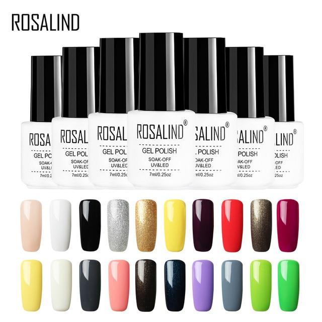 Rosalind Gel 1 Varnish Solid Color Series 7ml Nail Polish White Bottle Uv Led