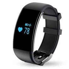 Del ritmo cardíaco muñeca a prueba de agua banda de natación del sueño gimnasio rastreador banda inteligente Bluetooth podómetro pulsera fitbits para iOS Android