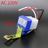 5pcs 10A Photoswitch Sensor Switch Auto On Off Photocell Street Light Control AC DC 12V 24V