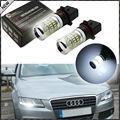 2 unids P13W Bombillas LED Error Gratuito White w/Reflector Espejo de Diseño para 2008-12 Audi B8 modelo A4 o S4 con faros de halógeno adornos