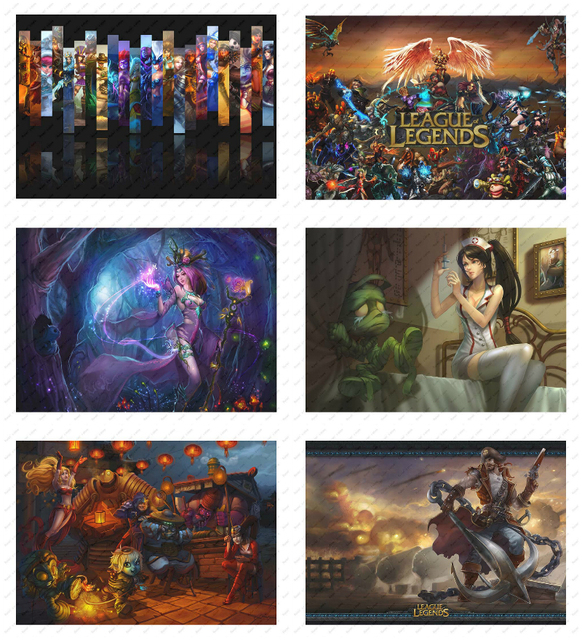 League Of Legends  LOL White kraft poster  Poster wall sticker Decorative paintings Game Poster