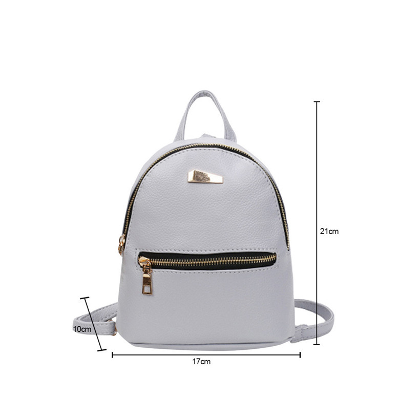 Fashion Women Mini Backpack Pu Leather College Shoulder Satchel School Rucksack Ladies Girls Casual Travel Bag Mochilas Mujer #4