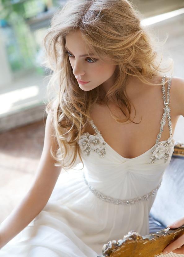 free shipping 2018 fashion princess long elegant sexy chiffon crystal beaded lace backless party bridal gown   bridesmaid     dresses