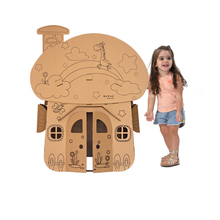 kids tent teepee toys for children paper play house home indoor outdoor outside  dropshipping cartoon Train Tank