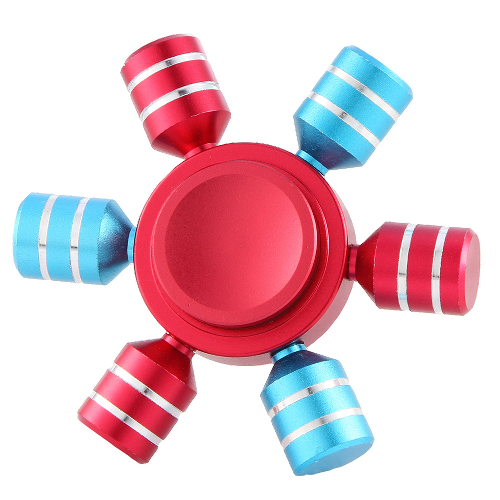 1 Pcs Colorful Hand Fidget Spinner Six Arm Rudder Ferris Wheel Finger EDC Gyroscope Focus Anti Stress Adult Kids Gifts Toy