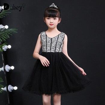 61c63ba5bc297c9 Новый Платье-пачка с блестками для девочек От 10 до 12 лет элегантный блеск  и блеск платье принцессы для вечерние Вечерние Выпускные платья