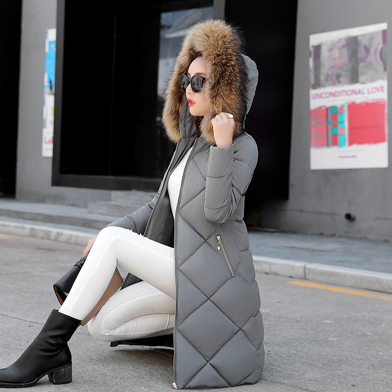 Winter Jacket Women 2017 New Fashion Casual Down Cotton Hooded Nagymaros Fur Collar Slim Thick Warm Parkas Outwear Padded Coat 2017 new fashion winter women long jacket parkas hooded fur collar coat slim warm cotton padded thick parkas lady outwear qjw104