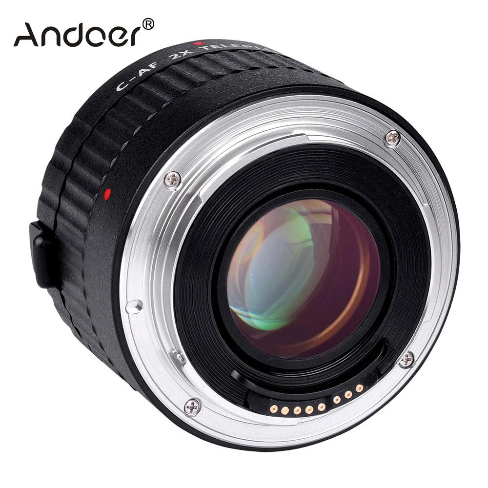 Prix pour C-AF 2X Téléconvertisseur Extender Auto Focus Monture pour Canon EOS EF Objectif Dslr