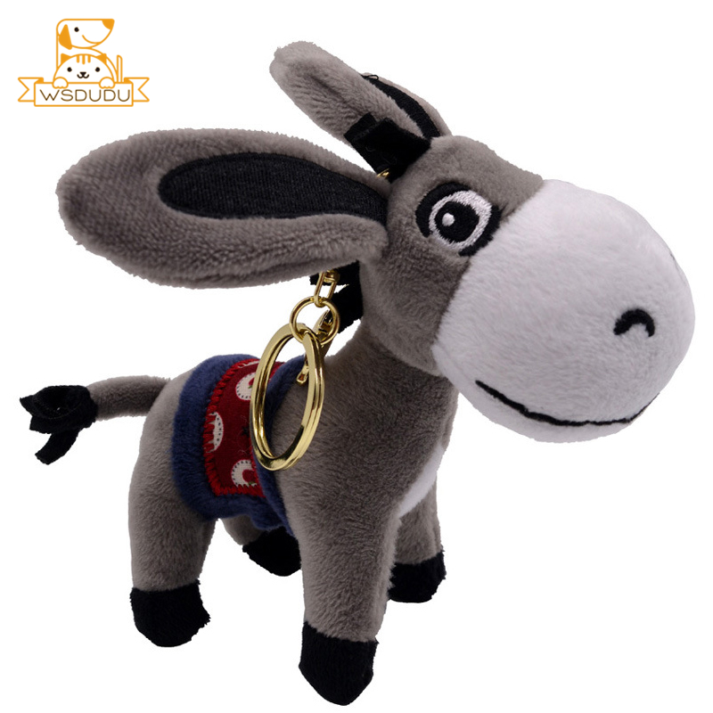 Cute Donkey Soft Plush Keychains Animal Small Pendant Dolls Stuffed Toys Mini Bag Decoration Burro Neddy Newest Girl Gift Lovely