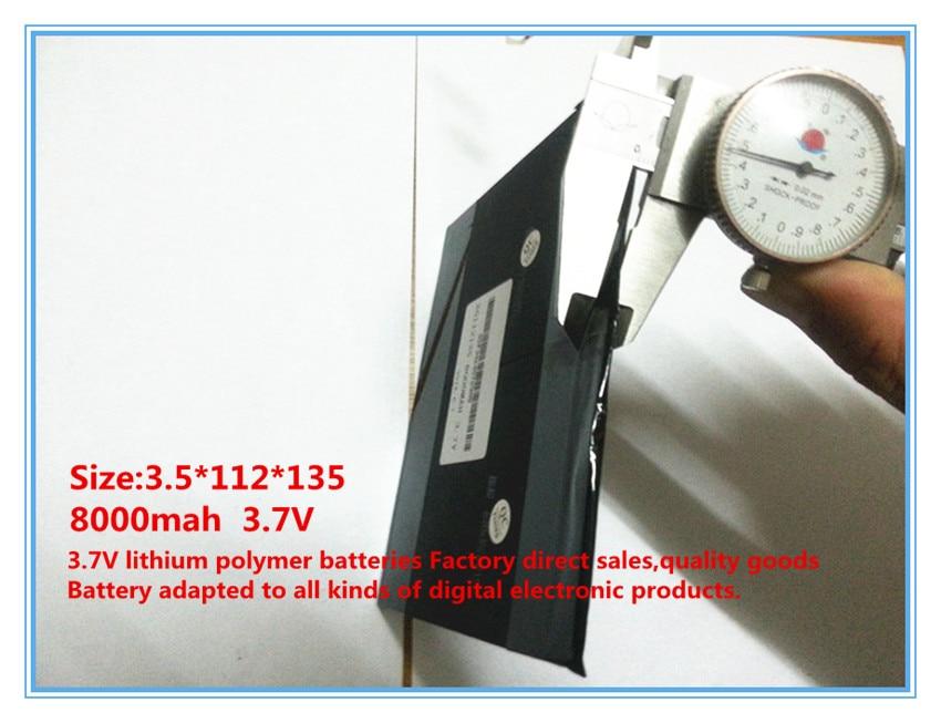 3.7V, 8000mAh, batería de iones de litio / polímero de litio para - Accesorios para tablets - foto 2