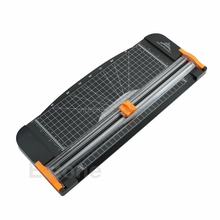 Paper Cutter Trimmer Jielisi 909-5 A4 Guillotine Ruler Paper Cutter Trimmer Cutter Black-Orange #H029#