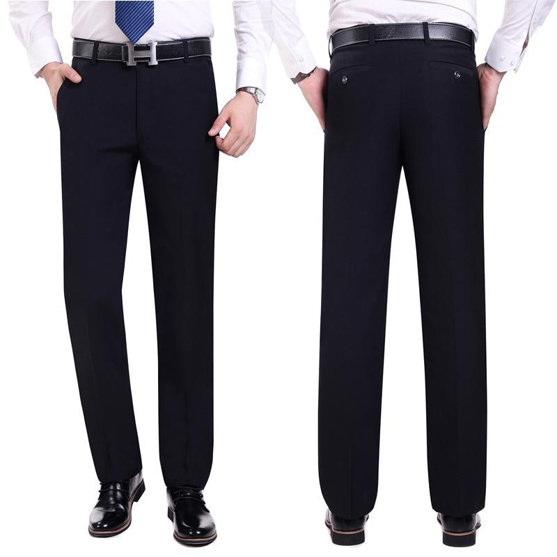 Anzug Hosen Männer Mode Kleid Hosen Social Mens Dress Hosen Schwarz - Herrenbekleidung - Foto 3