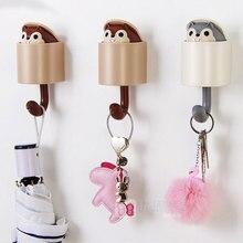 Creative Cute Squirrel Hook Strong Glue Door Hook Hook Multi-function Home Bedroom Living Room Hook