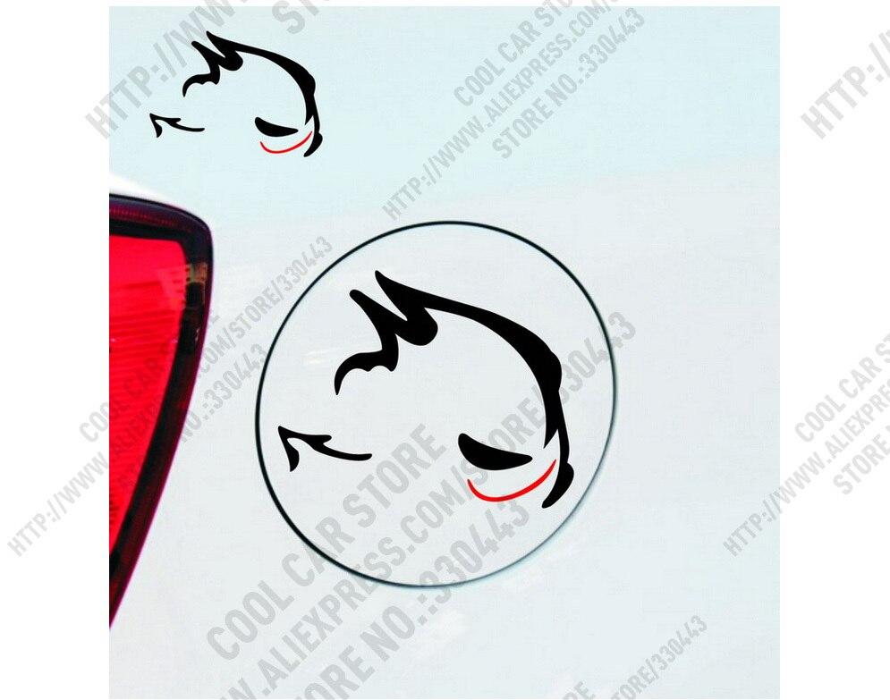12 Pieces Evil rabbit Racing fuel tank Car Sticker For vw polo golf 4 passat b6 jetta mk6 bora Tiguan Lamando Car Styling