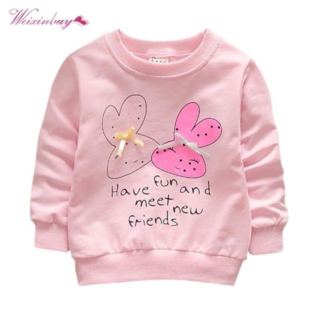 0cba29914962 WEIXINBUY Baby Toddler Kids Girls Spring Autumn Shirts Hoodies Cotton Long  Sleeve Winter Bottoming Shirts