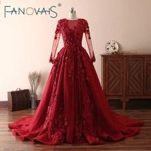 Robe de mariage Rouge avec fleurs en 3D