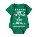 Feliz Natal Ya Imundo Adorável Animal Do Bebê de Manga Curta Bodysuits Roupas Infantis YM71PF