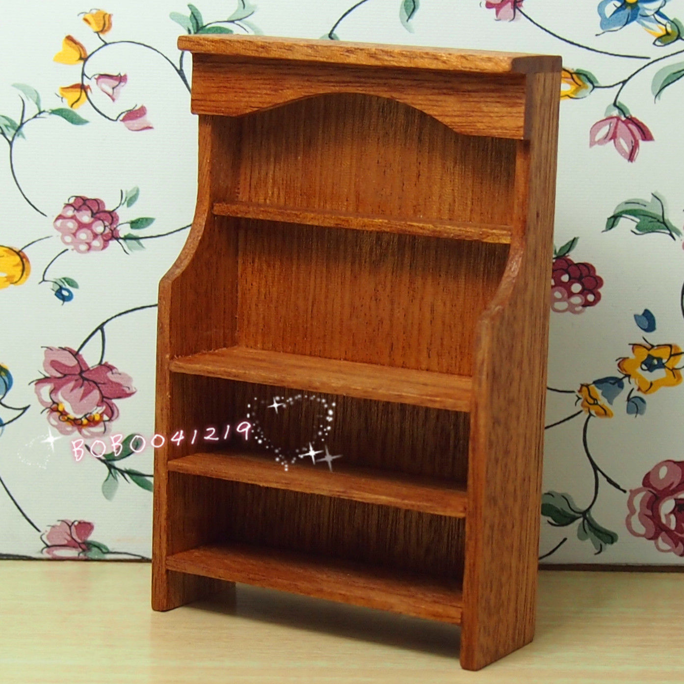 Dollhouse Miniature Kitchen Dining Room Wooden Dresser Height 103cm M34