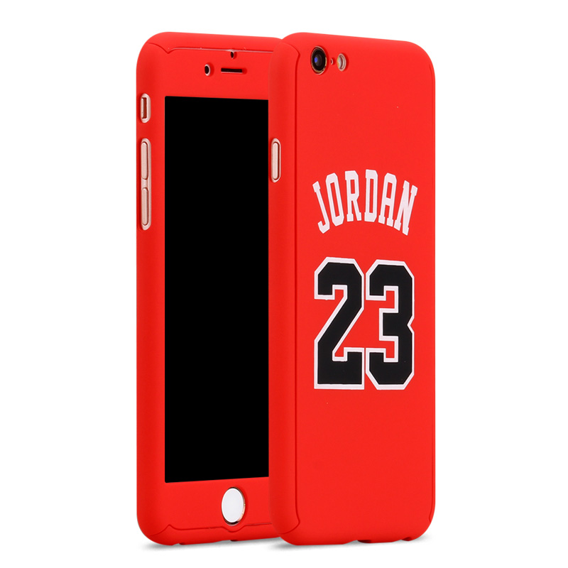 best sneakers b4f69 553c4 Michael Jordan Air 23 Kobe Bryant Curry Full Body Case Cover for fundas  iPhone 7 8 6 6s Plus 360 Case Basketball+ Tempered Glass