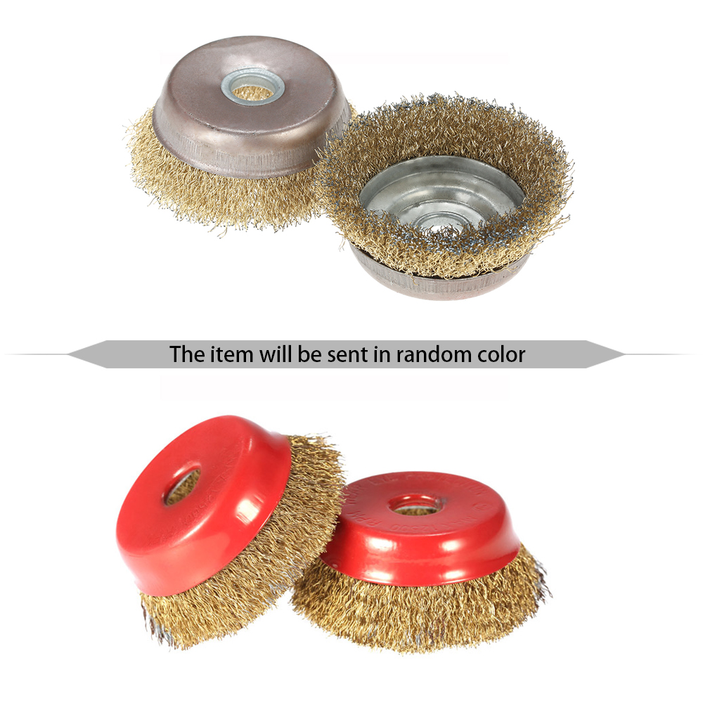 10x rotary mini tools steel wire wheel brushes cup rust cleaning - 2pcs 75mm 3 Steel Wire Wheel Fine Crimp Cup Wheel Brush Rotary Steel Wire Brush