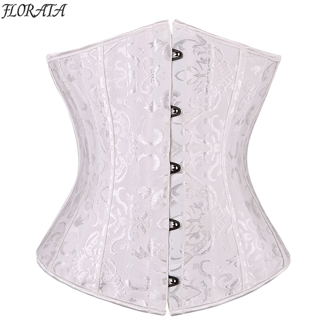 040dd13c673 24 spiral steel boned Corsets And Bustiers Waist trainer corset Underbust  Black steampunk corset plus Size lace up Sexy Lingerie