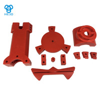 Reprap DIY 3d scanner plastic injection molding parts, red color