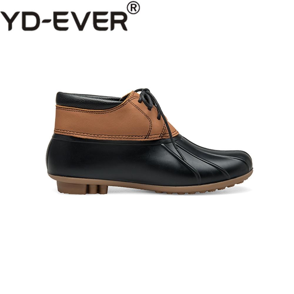 Lluvia Cómodo ever Goma De Botas Yd Pato Cuero Marrón Otoño Mujer Zapatos  Nuevo Impermeable Genuino Casuales 0gRWAw 5345195ea0a2
