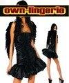 Бесплатная доставка черный ангел костюм аксессуар вниз неба темный костюм ангела w1235