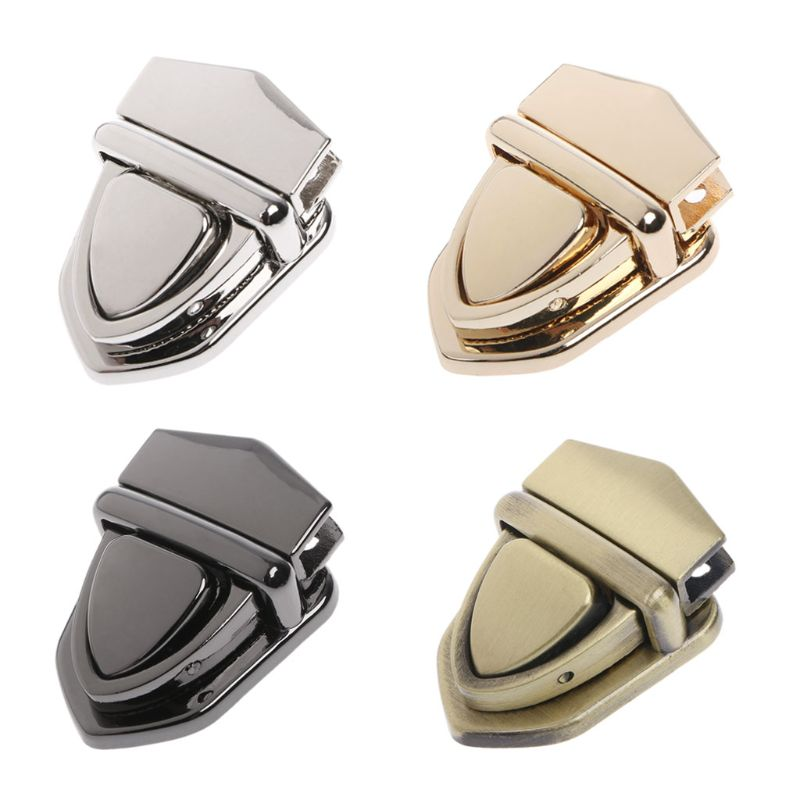 Hot New 1 Pc Turn Locks Twist Lock DIY Craft Replacement Metal Clasp Handbag Shoulder Bag Purse Accessories 4 Colors