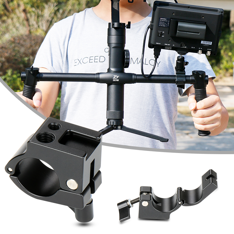 Ulanzi 22/25mm Rod Clamp Monitor Mount with Cold Shoe Mount for DJI Ronin-M Freefly MOVI Zhiyun Crane 2/V1/V2/Plus Gimbal Mount vorke v1 mount