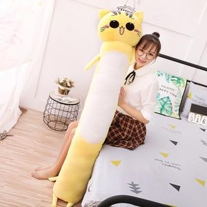 Image 5 - 90 165cm büyük boy oyuncaklar sevimli sarı kedi Pllow yumuşak yastık doldurulmuş hayvanlar kedi peluş oyuncaklar noel hediyesi çocuklar için