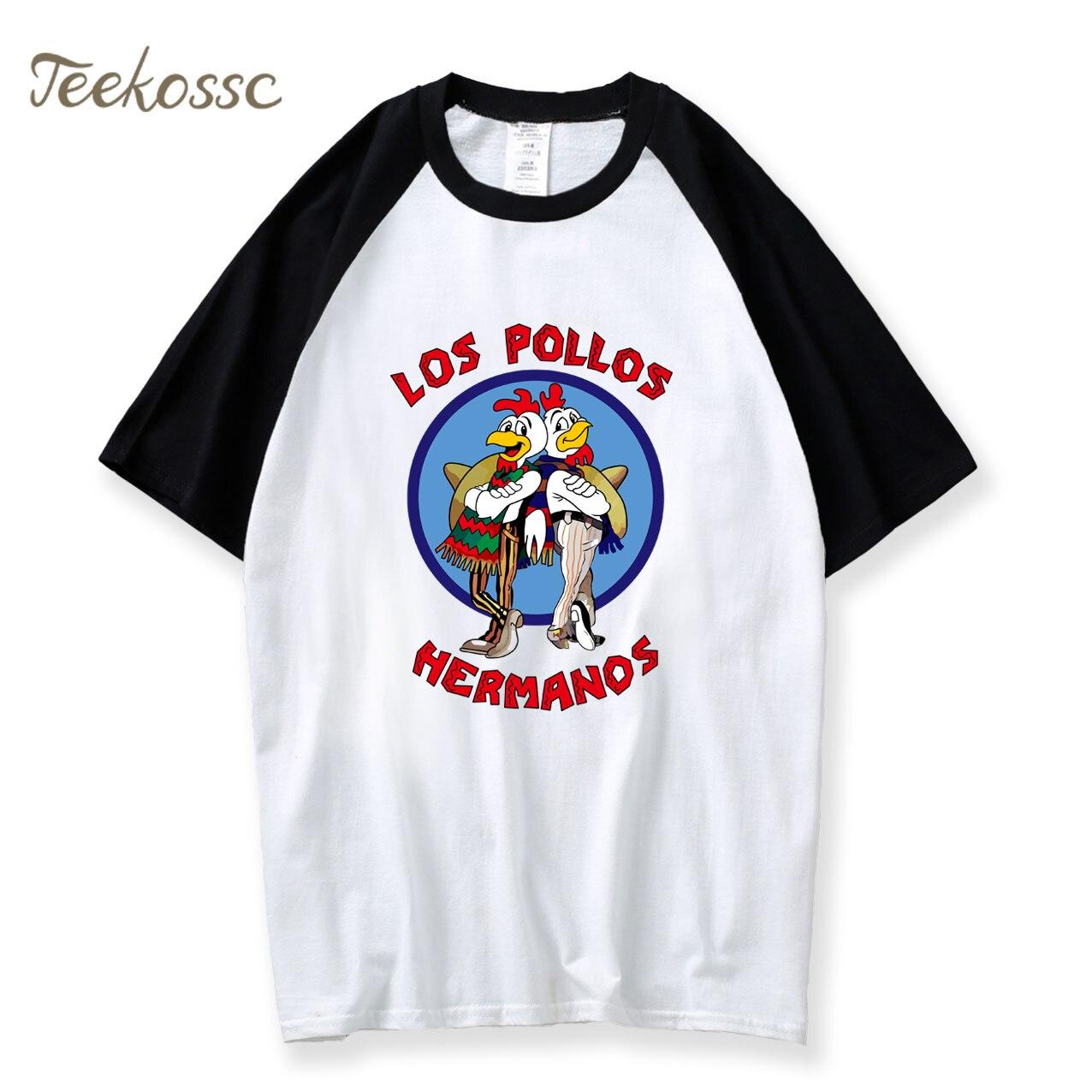 Breaking Bad T Shirt Men's LOS POLLOS Hermanos Tshirt Fashion Short Sleeve 2018 Summer Chicken Brothers T-Shirt Men Hipster Tops