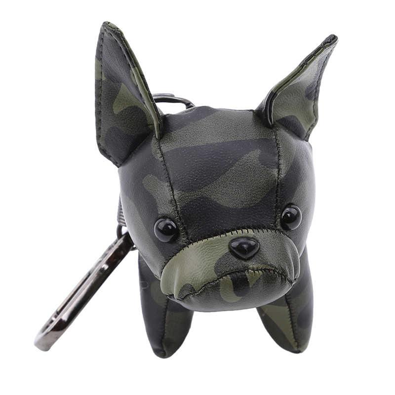 พวงกุญแจ Bulldog สัตว์สุนัข Key Chain Charm Key Chain Bulldog อุปกรณ์เสริม Punk รถแขวน