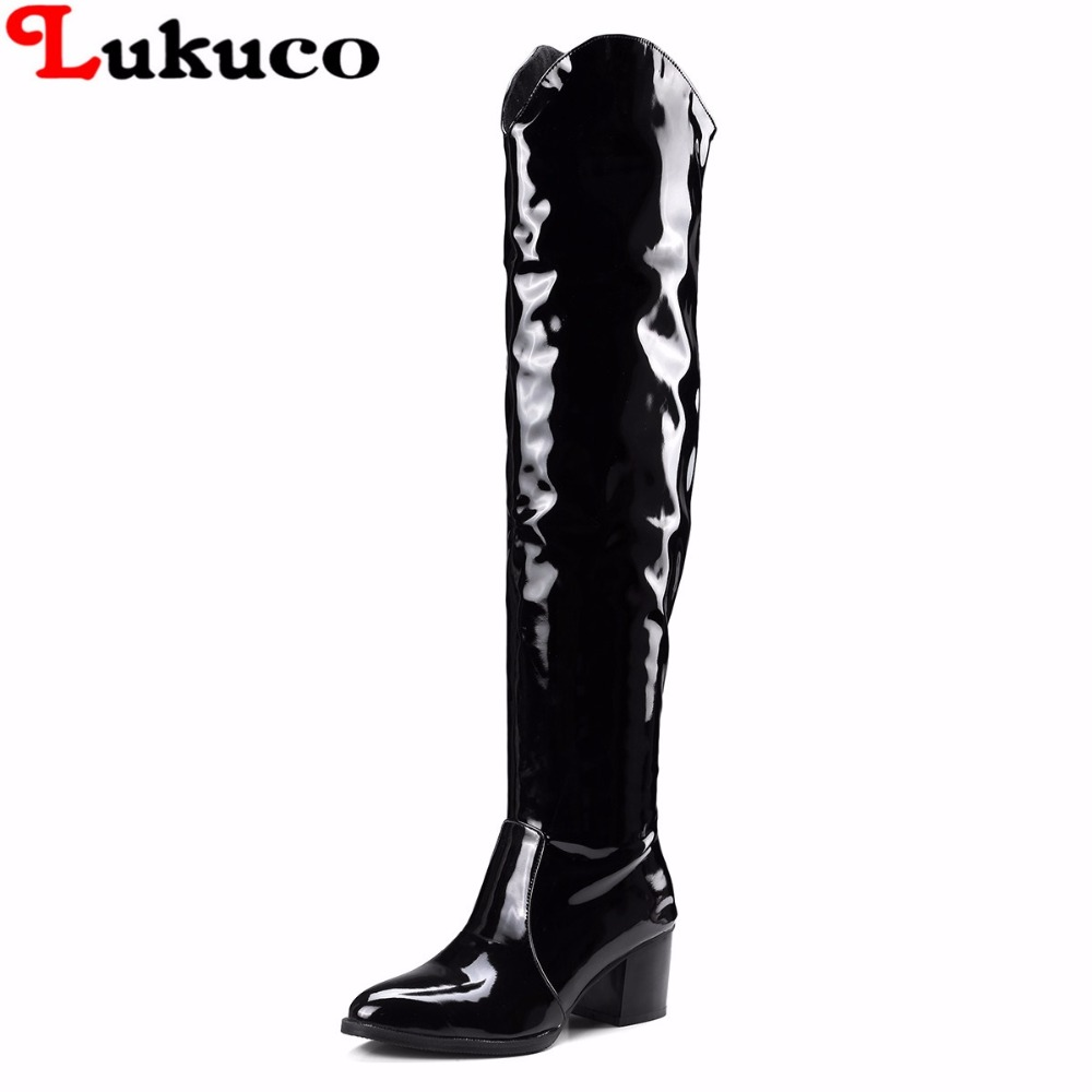 2018 sexy over-the-knee boots large size 41 42 43 44 45 46 47 48 pointed toe design women sexy shoes real pictures free shipping